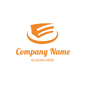 Orange Plate With Cake logo design
