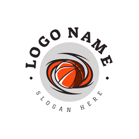 Orange Rotation Basketball logo design