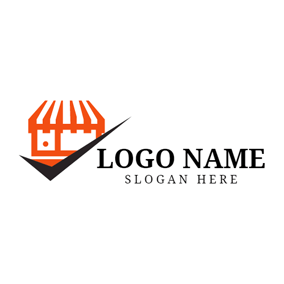 Orange Shopping Center logo design