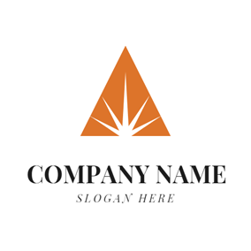 Orange Triangle and White Laser logo design