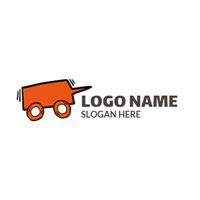 Orange Wheel and Vehicle logo design