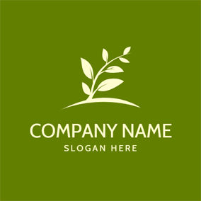 Organic Little Tree Icon logo design
