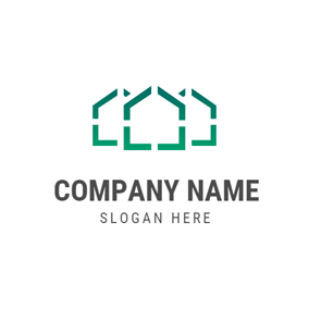 Outlined Green Warehouse logo design