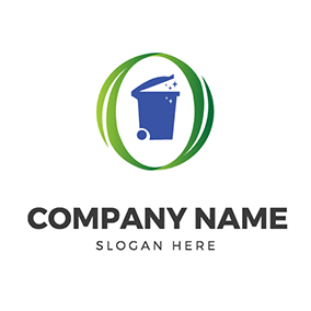 Oval Leaf Clean Bin logo design