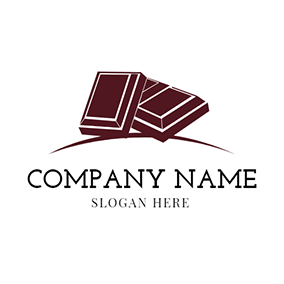 Overlap Brown and White Chocolate logo design