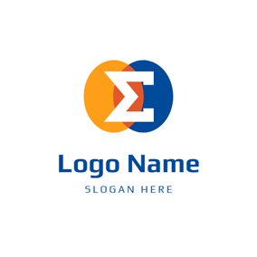 Overlap Circle and Sigma logo design
