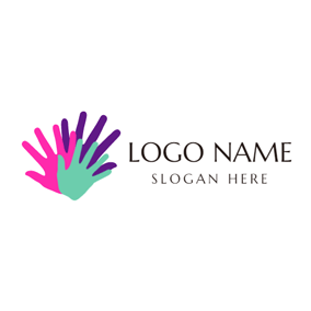 Overlapping Hands and Close Family logo design