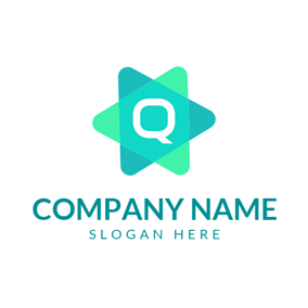 Overlapping Triangle and Letter Q logo design