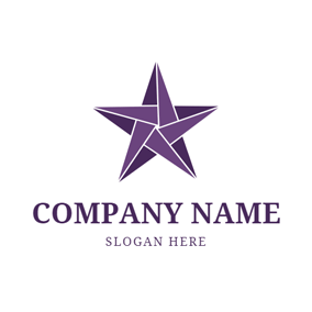 Paper Five Pointed Star logo design