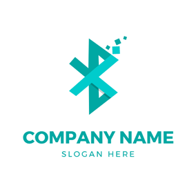 Paper Folding and Bluetooth logo design