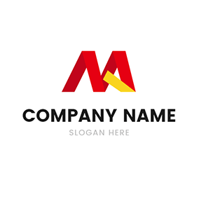 Paper Folding and Letter M A logo design
