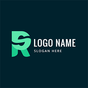 Paper Folding and Letter R S logo design