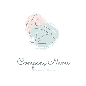 Pastel Rabbit logo design