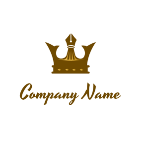 Pen Point and Crown logo design