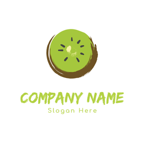 Pericarp and Fresh Kiwi logo design