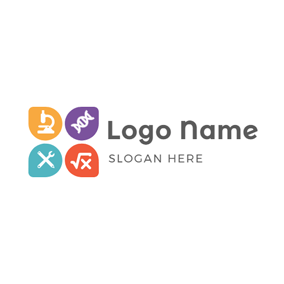 Petal Shape and Stem Symbol logo design