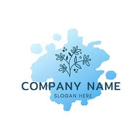 Pigment Paint Gradient Watercolor logo design