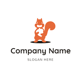 Pine Cone and Croci Squirrel logo design