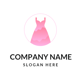 Pink Dress and Clothing Brand logo design