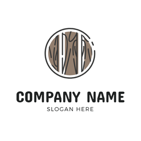 Plank and Wood Icon logo design