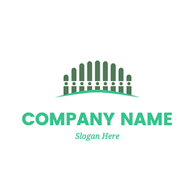 Plank Circle Fence Backyard logo design