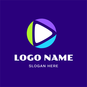 Play Button and Vlog logo design