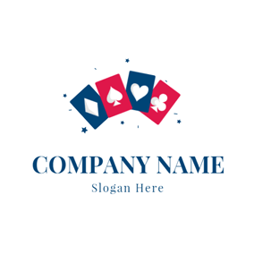 Playing Card and Poker logo design