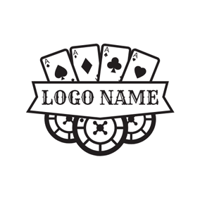 Playing Cards and Casino Jeton logo design