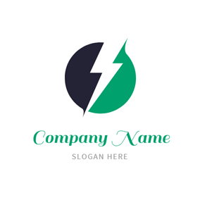 Power and Lightning Bolt logo design
