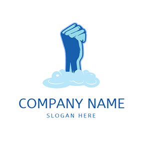 Powerful Hand and Foam logo design