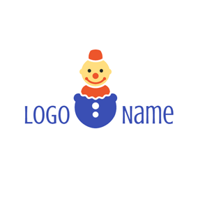 Prank and Cute Toy Clown logo design