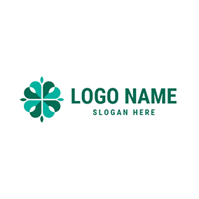 Pretty and Creative Clover logo design