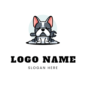 Pug and Wrench logo design