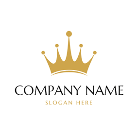 Purely Golden Crown logo design