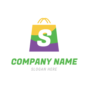 Purple and Green Bag logo design