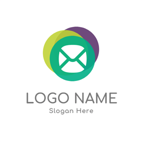 Purple and Green Icon logo design