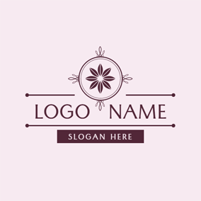 Purple and Pink Lotus logo design