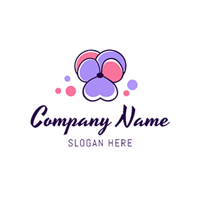 Purple and Pink Violet Icon logo design