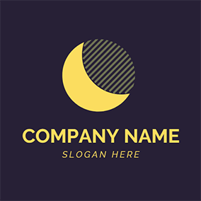 Purple and Yellow Moon logo design