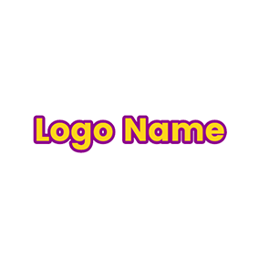 Purple and Yellow Regular Font Style logo design