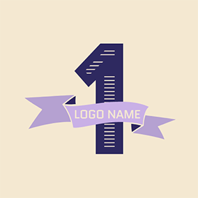 Purple Banner and 1st Anniversary logo design
