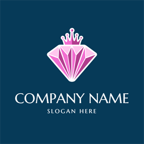 Purple Crown and Crystal logo design