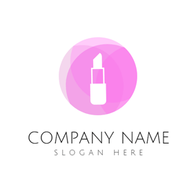 Purple Lipstick and Makeup logo design