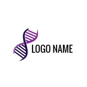 Purple Molecular Structure and Dna logo design