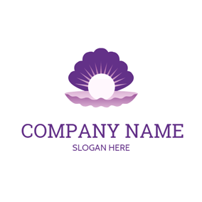 Purple Shell and Bright Pearl logo design