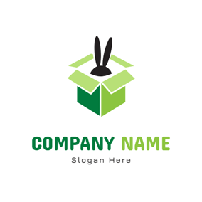 Rabbit Ear and Magic Box logo design