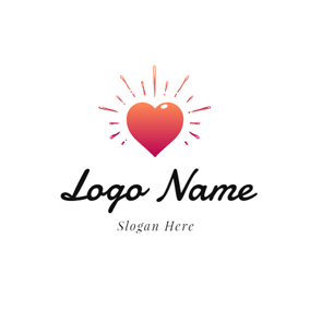 Radiance and Love Heart logo design