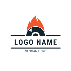 Raging Flame and CD logo design
