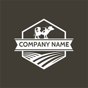 Ranch and Cow logo design