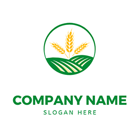 Ranch and Wheat logo design